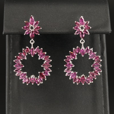 Sterling Rhodolite Garnet Earrings