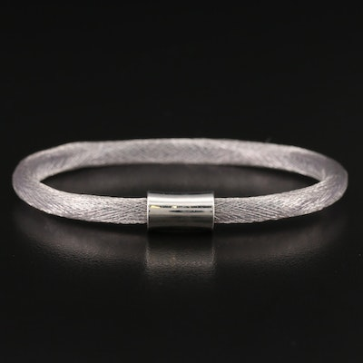 Flexible Sterling Silver Woven Mesh Bangle