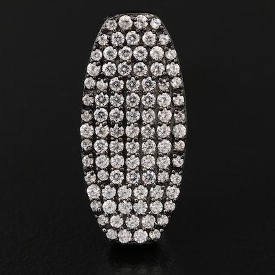 Sterling Silver Cubic Zirconia Pavé Pendant