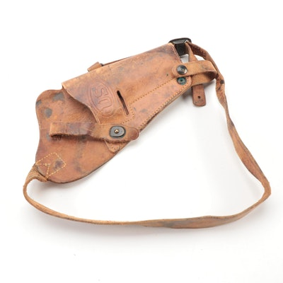 WWII Era Enger Kress U.S. Army M3 Leather Shoulder Holster