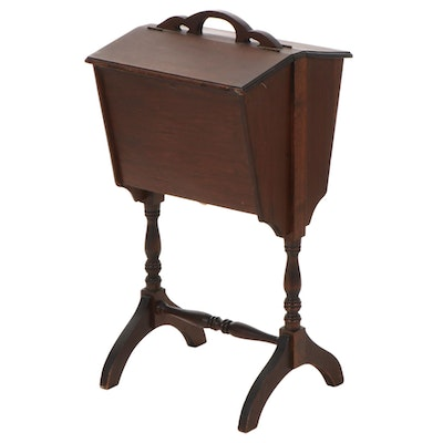 Federal Style Pine Double Lift-Lid Sewing Stand, 20th Century