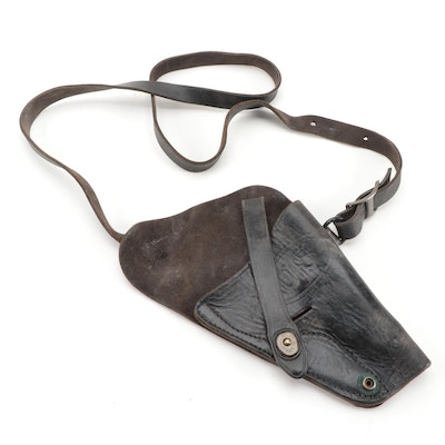 WWII Era U.S. Army Black Leather Shoulder Holster