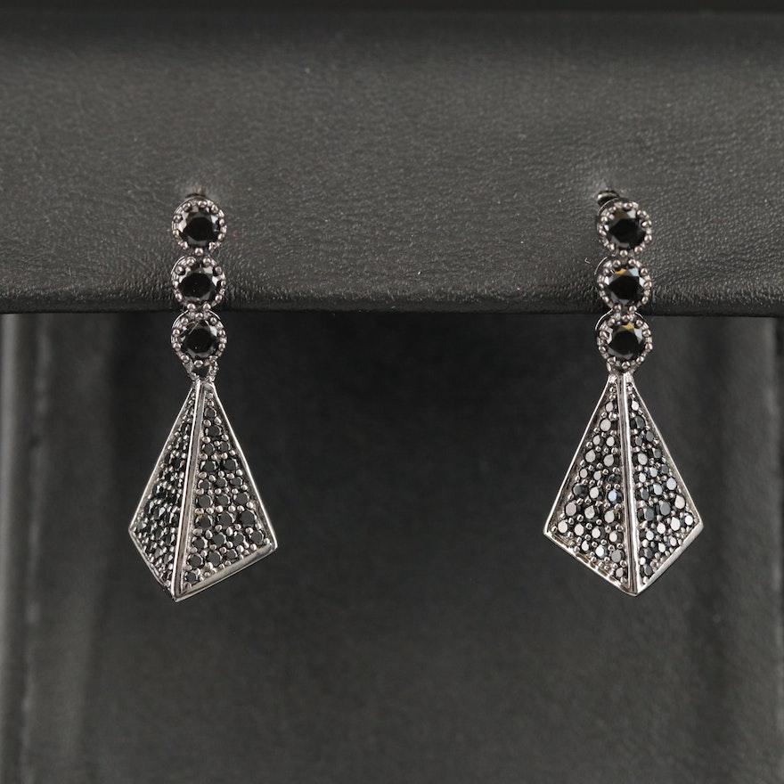 Sterling Spinel Dangle Earrings