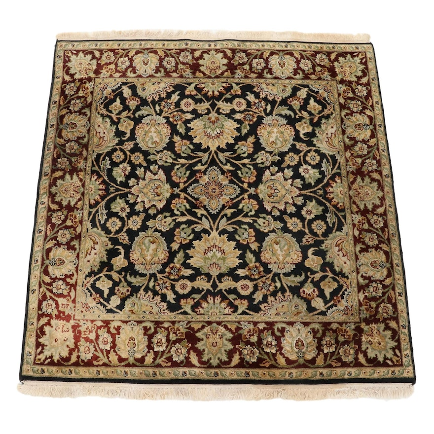 6' x 6'6 Hand-Knotted Persian Tabriz Area Rug, 2000s