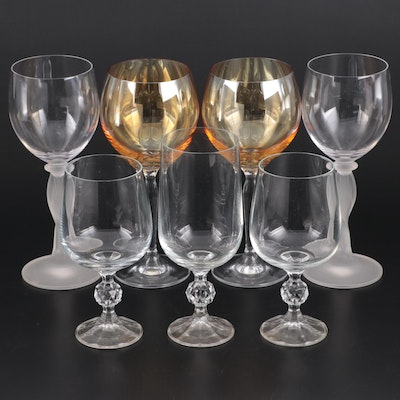 "Import Association ""Claudia"" and Other Crystal and Glass Stemware"