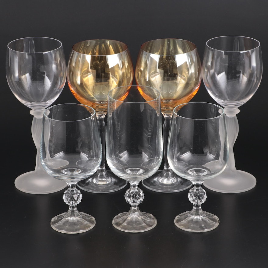 """Import Association """"Claudia"""" and Other Crystal and Glass Stemware"""