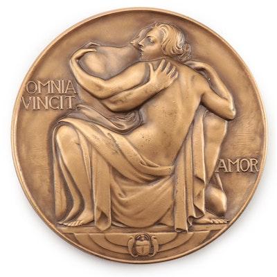 """Robert Aitken """"Omnia Vincit Amor"""" Bronze Medal, 1937"""