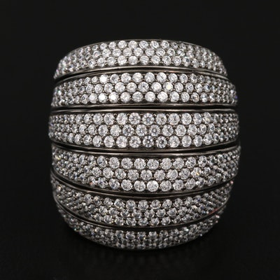 Sterling Cubic Zirconia Harem Ring
