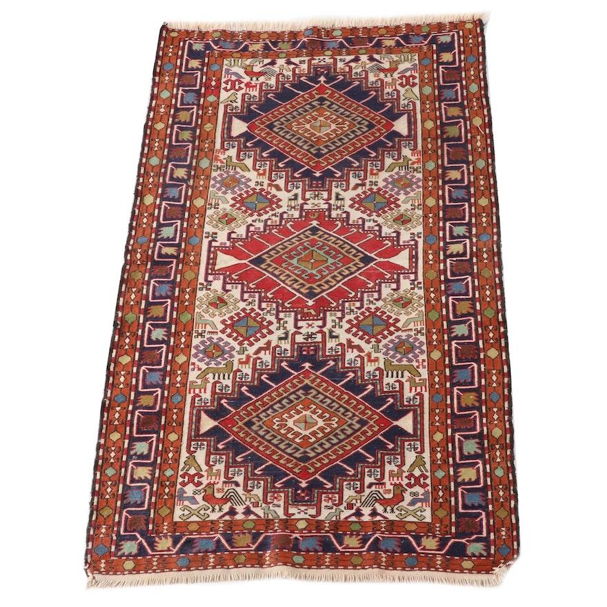 3'5 x 6'8 Hand-Knotted Afghan Soumak Wool Rug