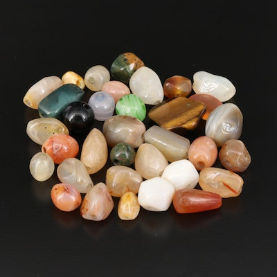 Loose Gemstones Featuring Agate, Tiger's Eye and Jasper