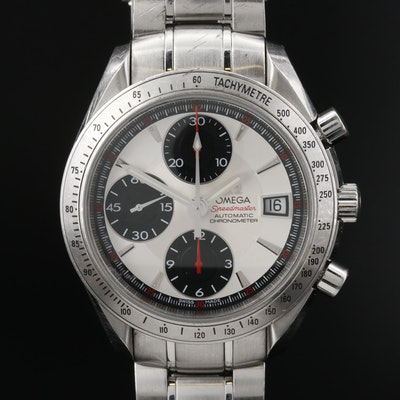 Omega Speedmaster Date 40 Panda Stainless Steel Automatic Wristwatch