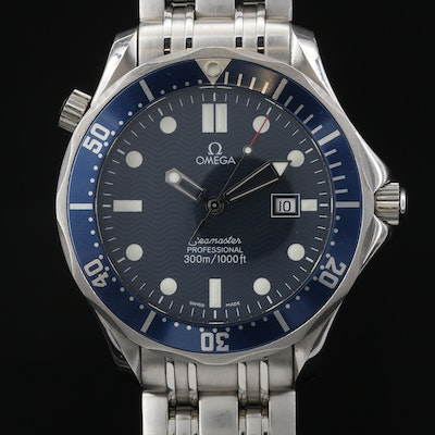 Omega Seamaster Diver 300 Meters Stainless Steel Quartz Wristwatch