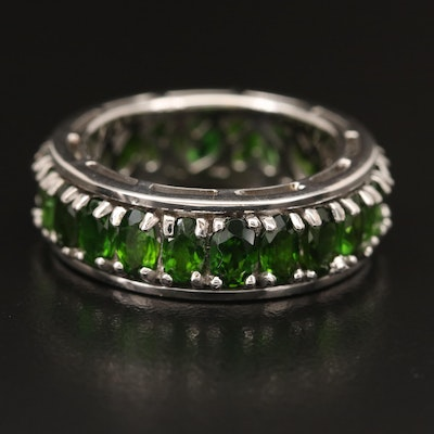 Sterling Diopside Spinner Ring