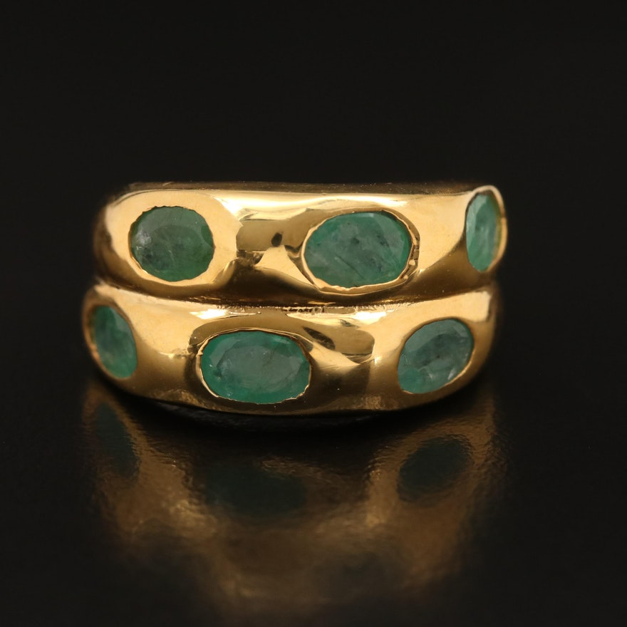 Sterling Emerald Band