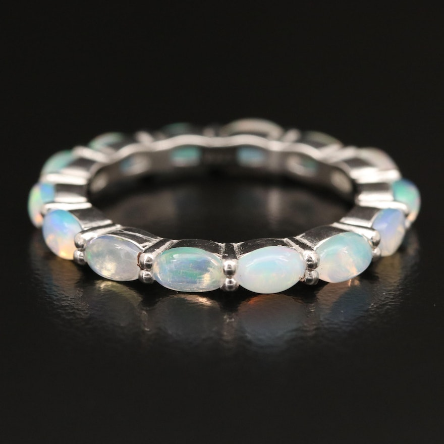 Sterling Opal Eternity Band