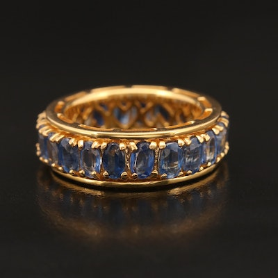 Sterling Kyanite Spinner Eternity Band