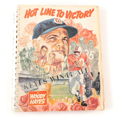 """Hot Line to Victory"" Ohio State Football Book, Signed by Woody Hayes, JSA COA"