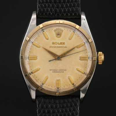 1957 Rolex Oyster Perpetual Stainless Steel Automatic Wristwatch