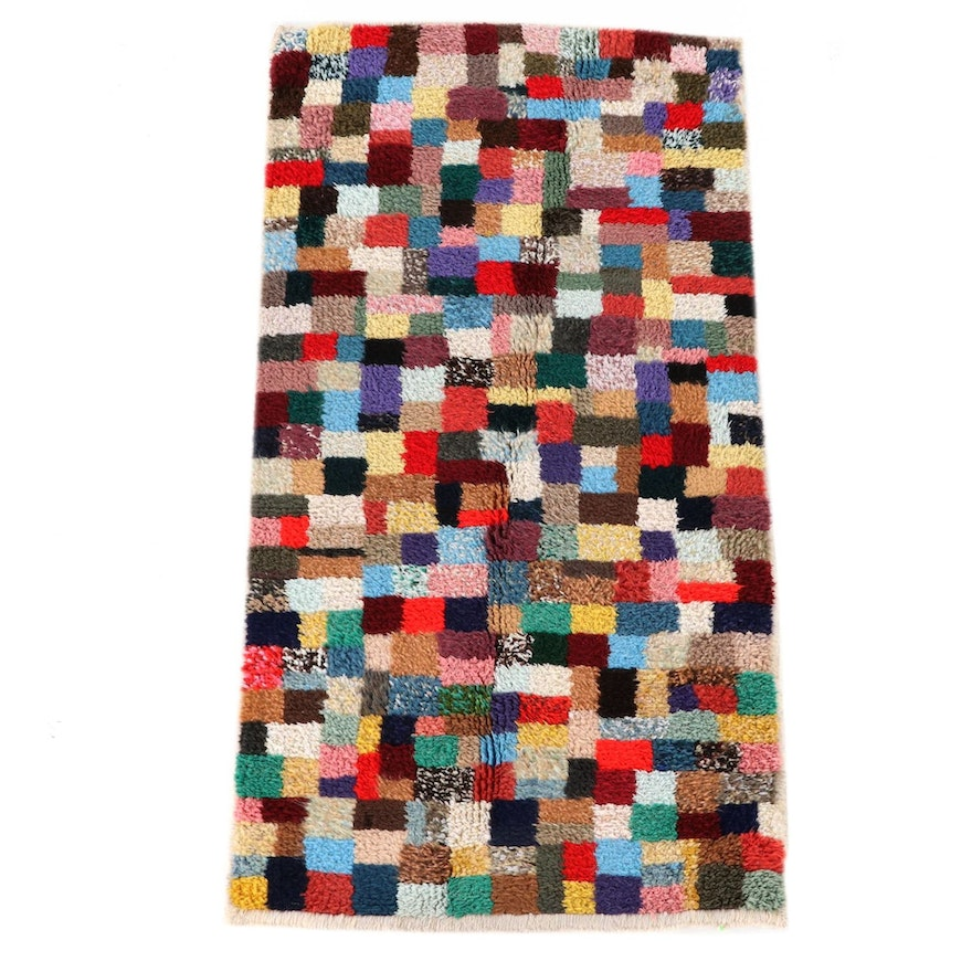 2'5 x 4'11 Hand-Knotted Moroccan Azilal Area Rug