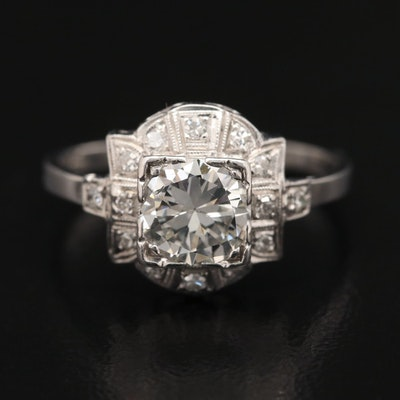Platinum 1.13 CTW Diamond Ring