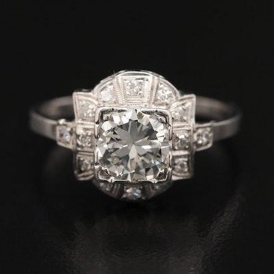 Platinum 1.13 CTW Diamond Ring
