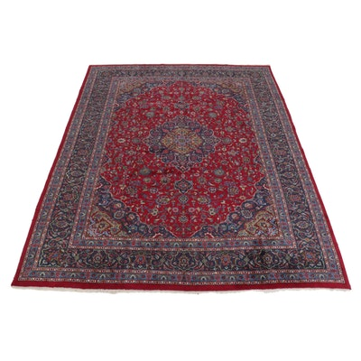 9'8 x 13' Hand-Knotted Persian Kashmar Room Sized Rug, 1970s