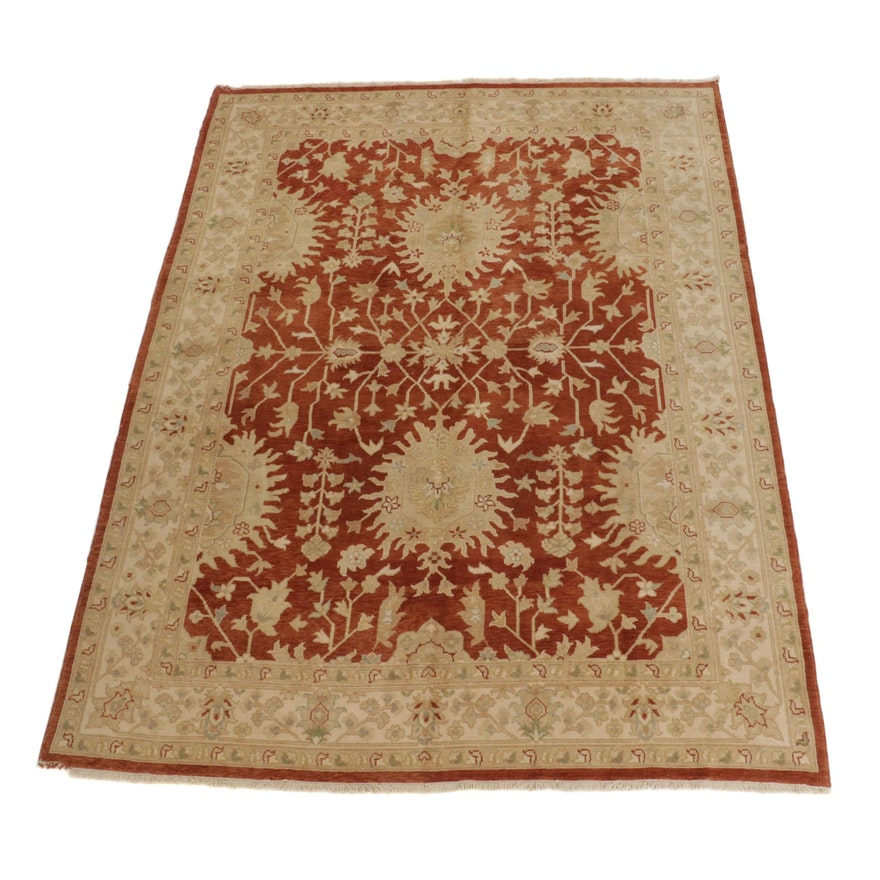 9'1 x 12' Hand-Knotted Turkish Oushak Room Sized Rug, 2000s