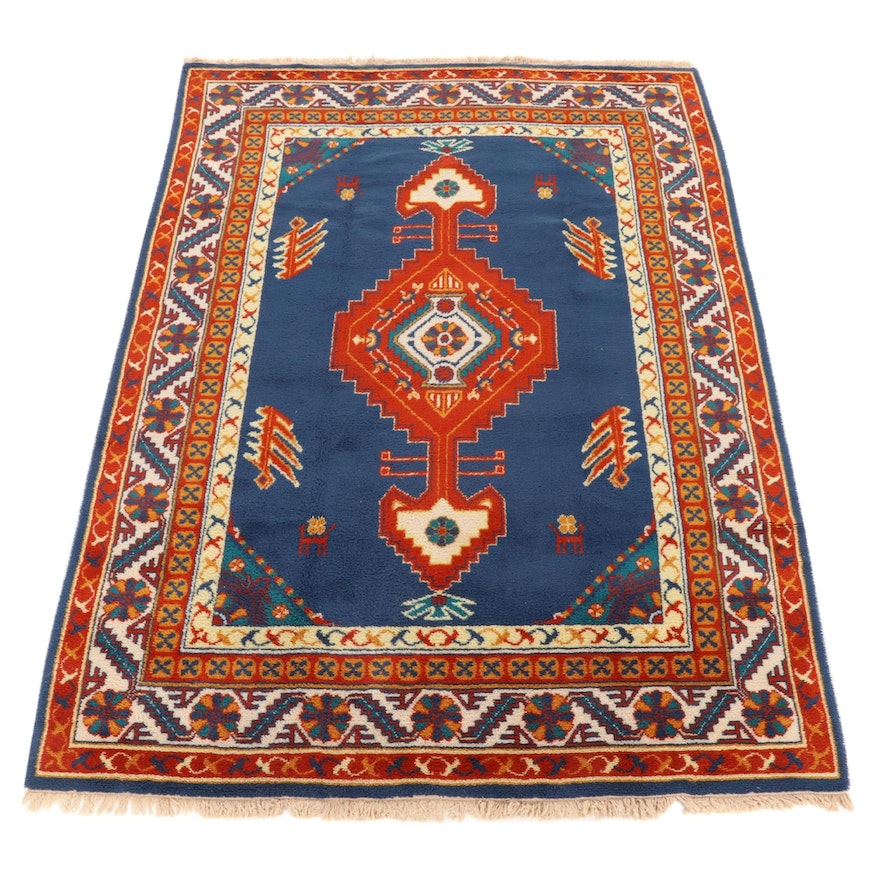 8' x 11'6 Hand-Power Loomed European Pictorial Room Sized Rug, 1990s