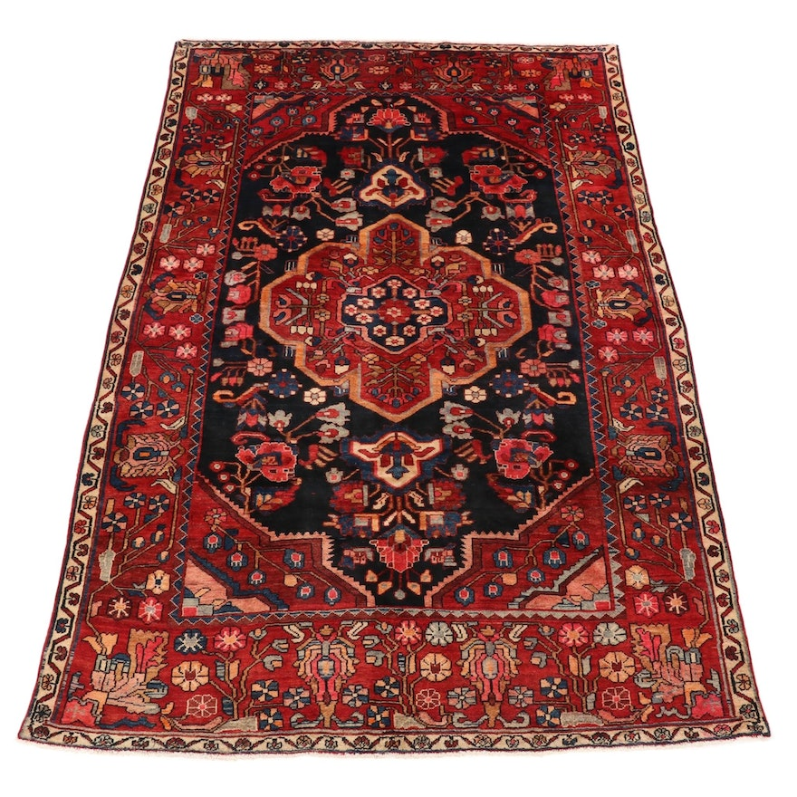 7' x 10'2 Hand-Knotted Persian Area Rug, 1960s