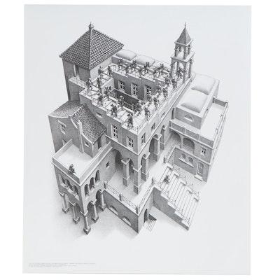 "Offset Lithograph after M.C. Escher ""Ascending and Descending,"" 21st Century"