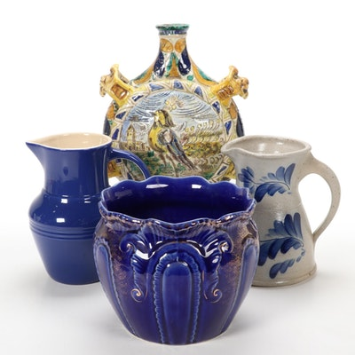 Majolica Bird Vase, Eldreth Pottery Pitcher and More