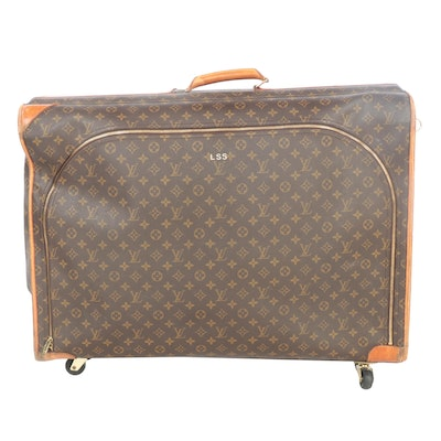 Louis Vuitton Monogram Canvas Soft Sided Roller Luggage Bag