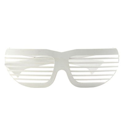 Volpini White Shutter Shade Sunglasses with Jacques Durand Case, Made in France