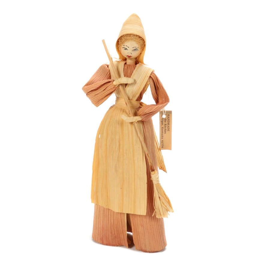 Handmade Folk Art Corn Husk Doll