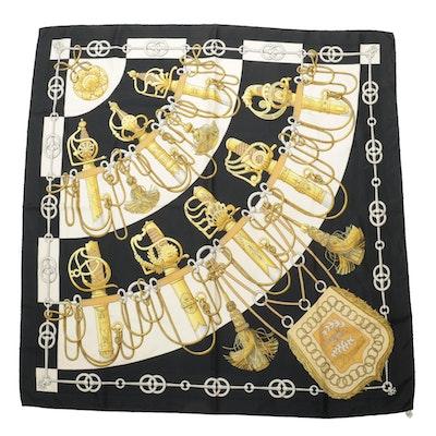 "Hermès ""Cliquetis"" Printed Silk Twill Scarf"