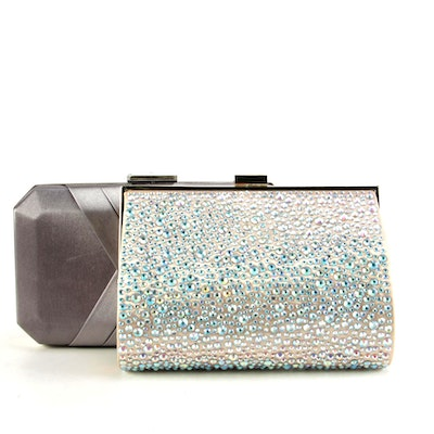 INC International Concepts Satin and Rhinestone Embellished Clutches