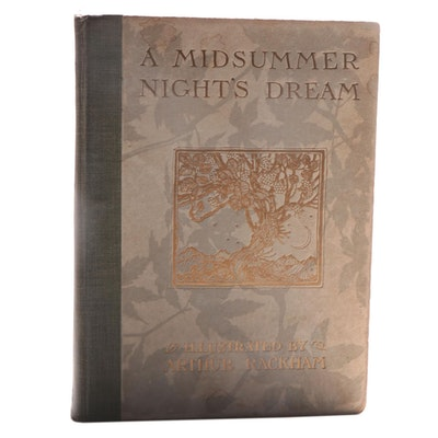 "Arthur Rackham Illustrated ""A Midsummer Night's Dream"" by Shakespeare, 1912"