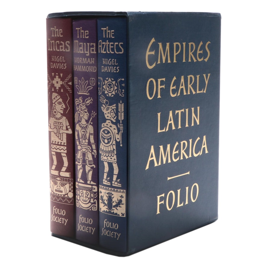 "Folio Society ""The Empires of Early Latin America"" Three-Volume Box Set, 2001"
