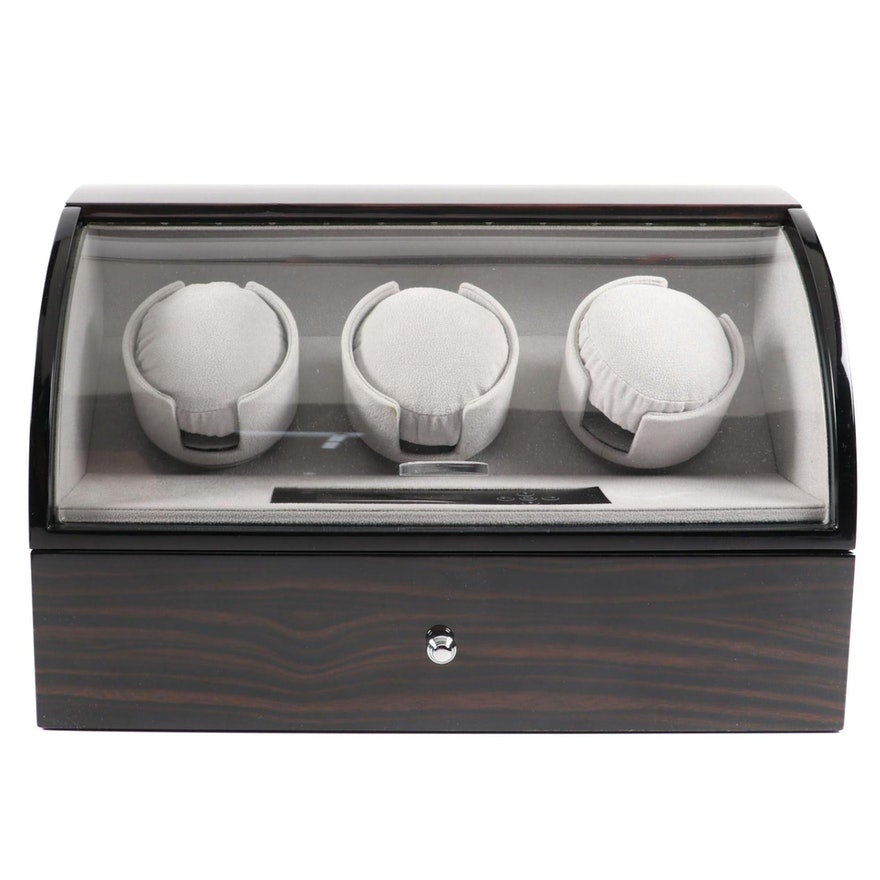 Rotations Triple Watch Winder and Watch Case