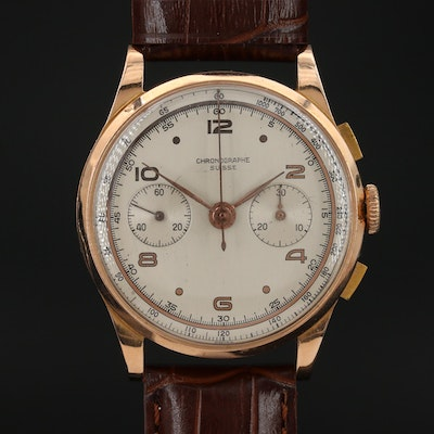 18K Rose Gold Chronographe Suisse Wristwatch