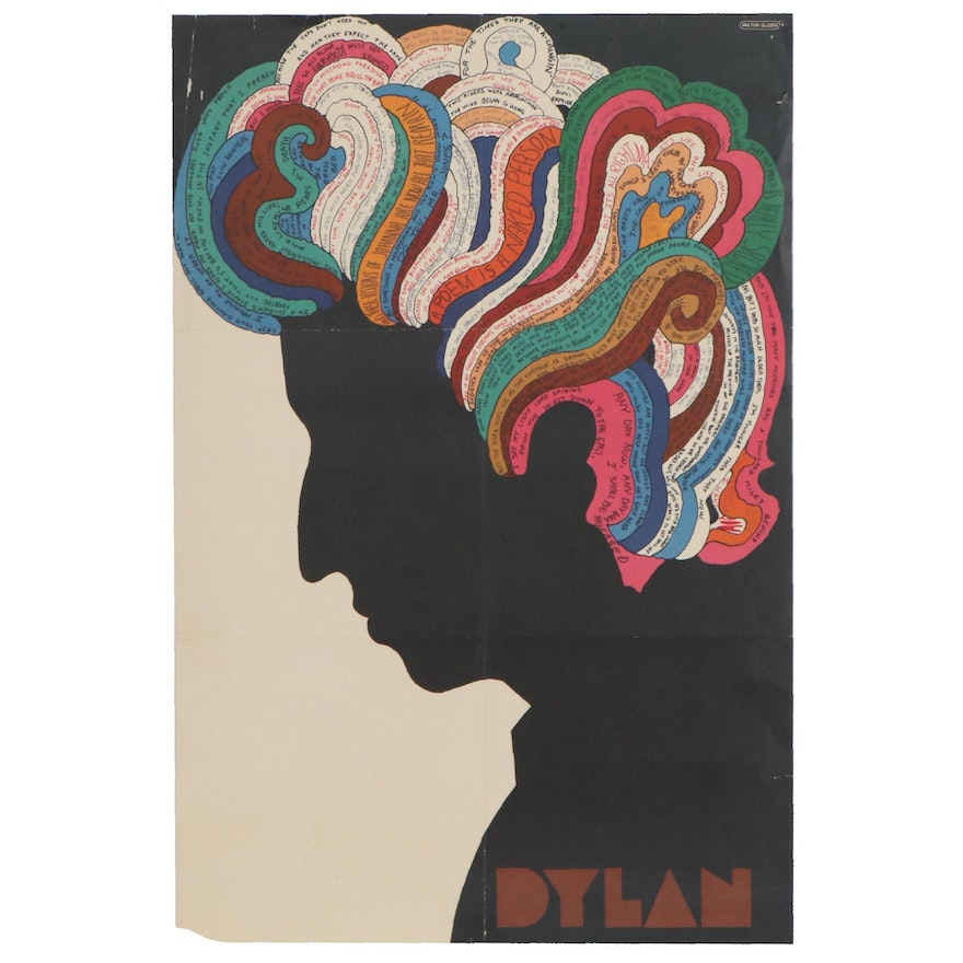 "Poster Designed by Milton Glaser for Album ""Bob Dylan's Greatest Hits,"" 1966"