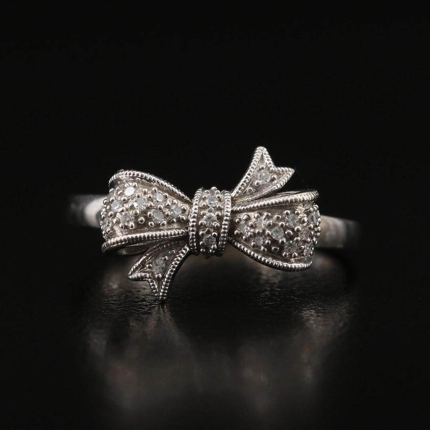 10K Diamond Bow Ring