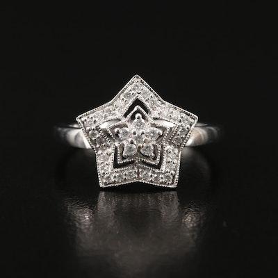 14K Diamond Star Ring