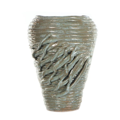 Glazed Coiled Ceramic Vase, 2001