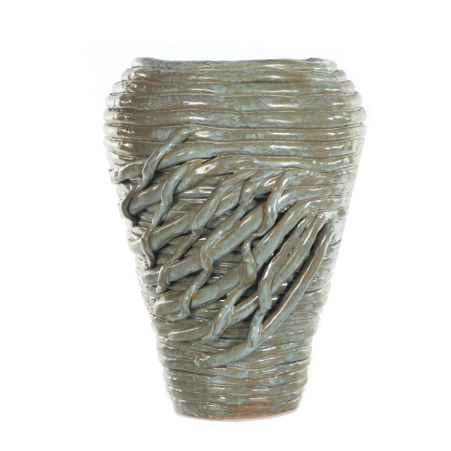 Glazed Coiled Ceramic Vase, 2001