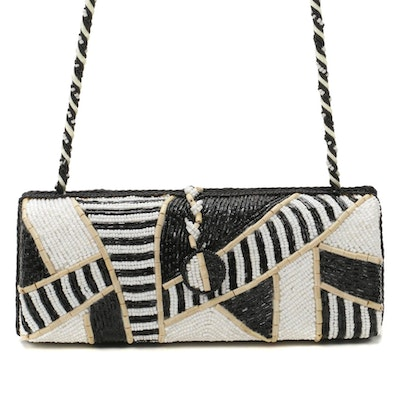 Motif by Mary Frances Beaded Box Clutch Crossbody Bag