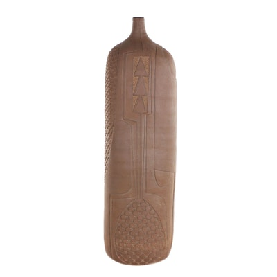 "Donna and J. Edward Barker Stoneware Vase ""Ritual Vessel,"" 1996"