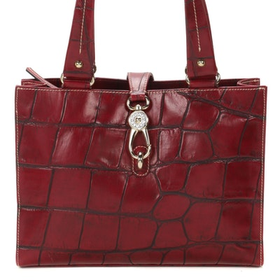 Dooney & Bourke Croc-Embossed Leather Shoulder Bag