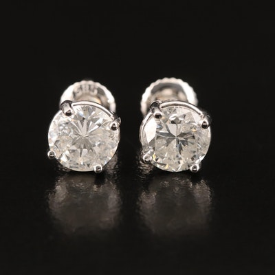 14K 2.47 CTW Diamond Stud Earrings