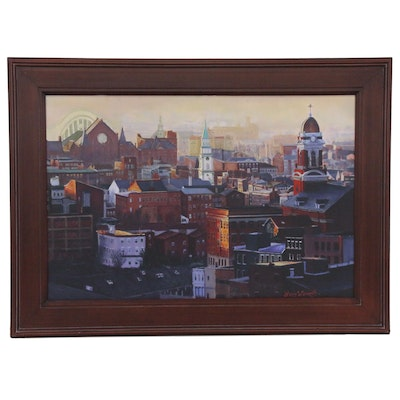 Larry Womack Giclée of Over-the Rhine, Cincinnati